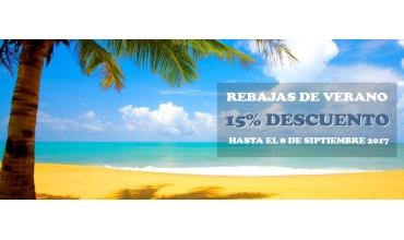 Rebajas de Verano 15% de descuento en tu compra